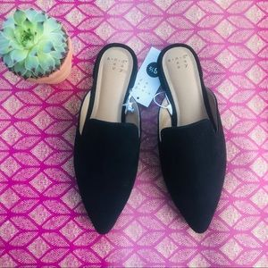 NWT a new day a.n.d Suede Look Slide Flats